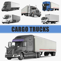 Cargo Trucks 3D Models Collection
