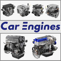 car engines 3D model