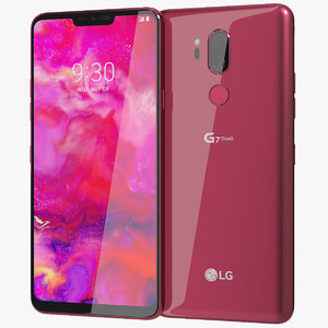 realistic lg g7 thinq 3D model