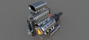 3D 1st gen hemi engine