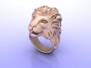 3D lion ring model