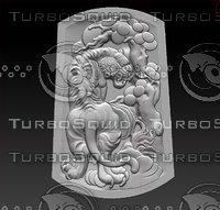 stl tiger 3D model