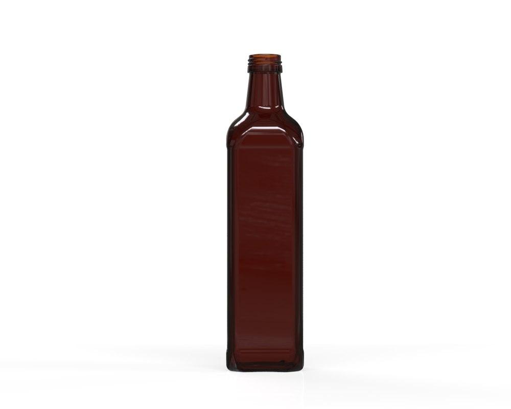 3D glass bottle 36 model