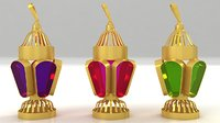 3D model egyptian fanoos ramadan