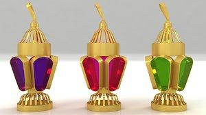 3D model egyptian fanoos ramadan