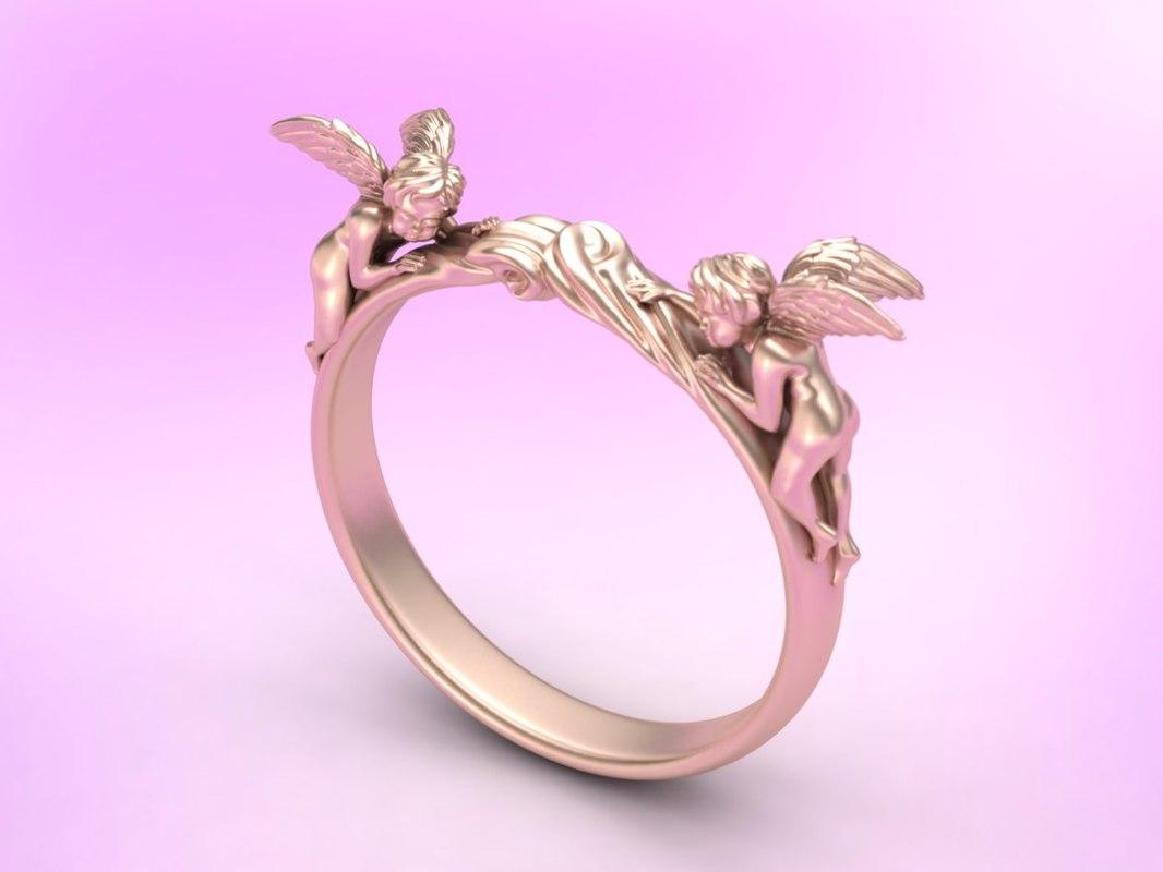 Angel ring 3D model - TurboSquid 1284778