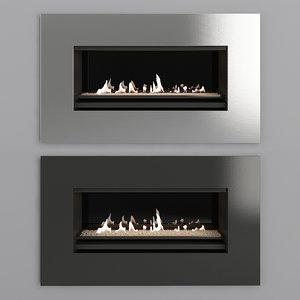 3D fireplace modern model