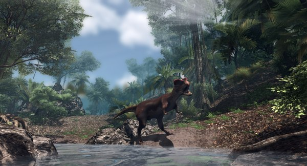 3D model dilophosaurus animations