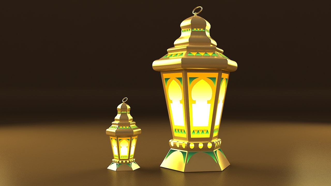 egyptian fanoos ramadan 3d model