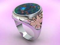 zoroastrianism ring 3D