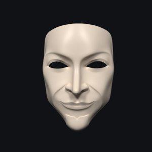 3D model anonymous mask