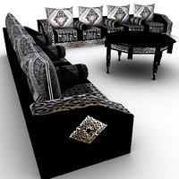 complete moroccan sofa set 3D