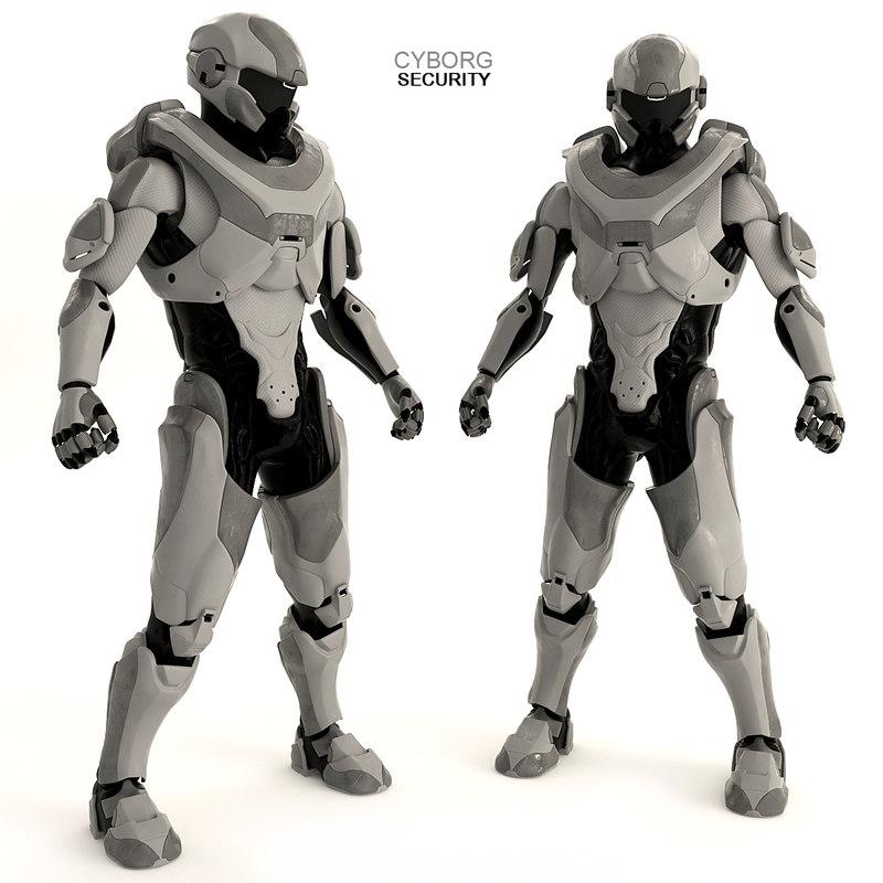 3D robot bot security model