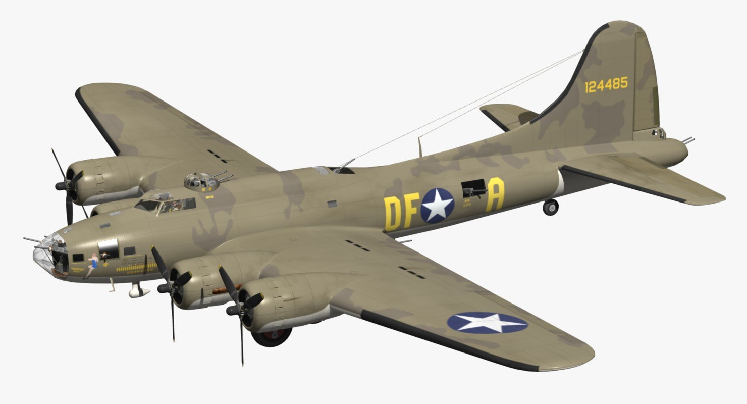 3D model memphis belle b17