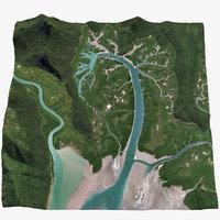3D river s drainage basin