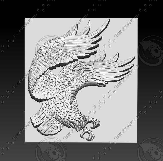 eagle relief sculpture model
