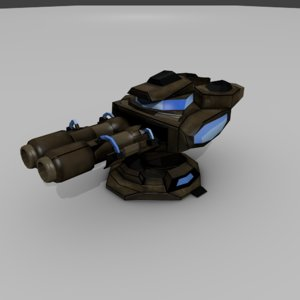 sci-fi cannon 3D model