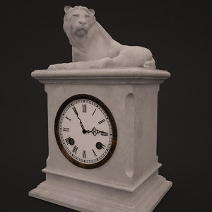 3D model clocks sculptures decor