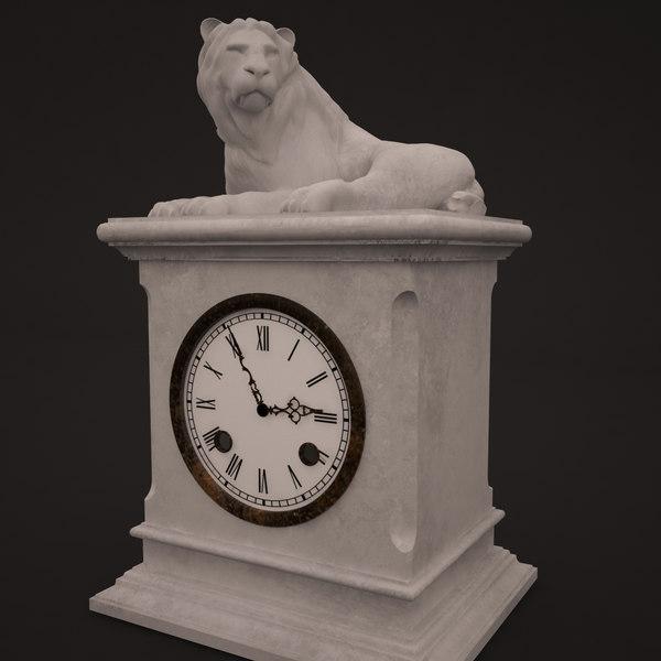 3D model clocks sculptures decor