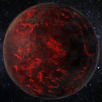 Lava Planet / Super-Earth 55 Cancri_8k PBR