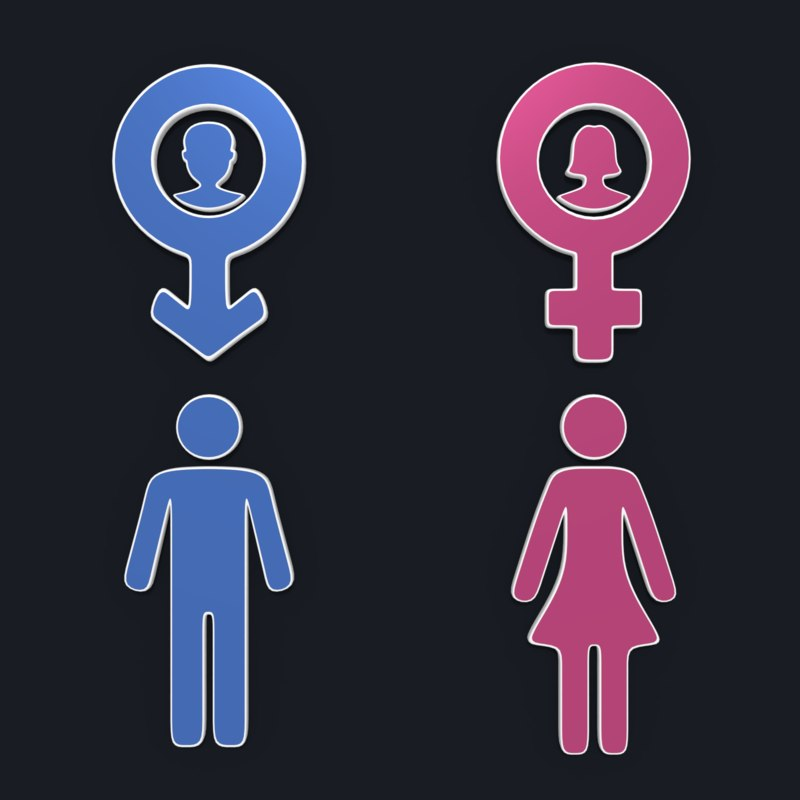 3D gender symbols