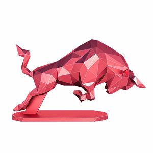bull figure 3D