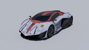car ready 3D model