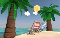 beach sand 3D model