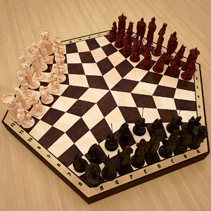 chess players 3D