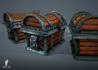 3 Pirate Treasure Chests Game Ready 3d Models