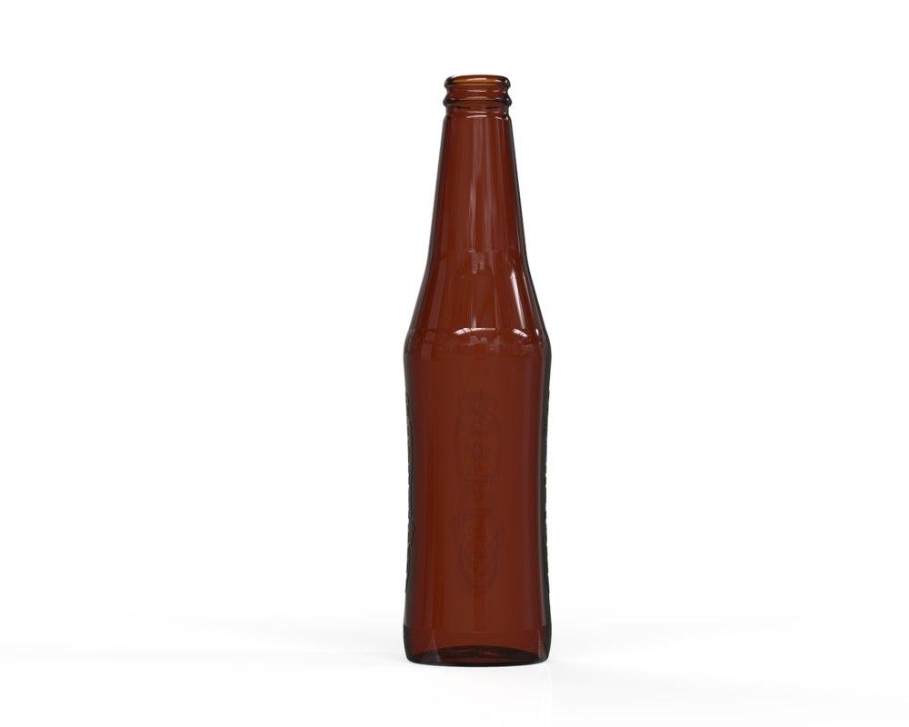 glass bottle 49 3D model