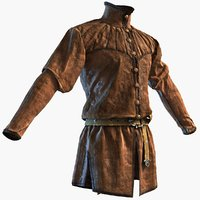 Medieval Doublet Lowpoly Jacket