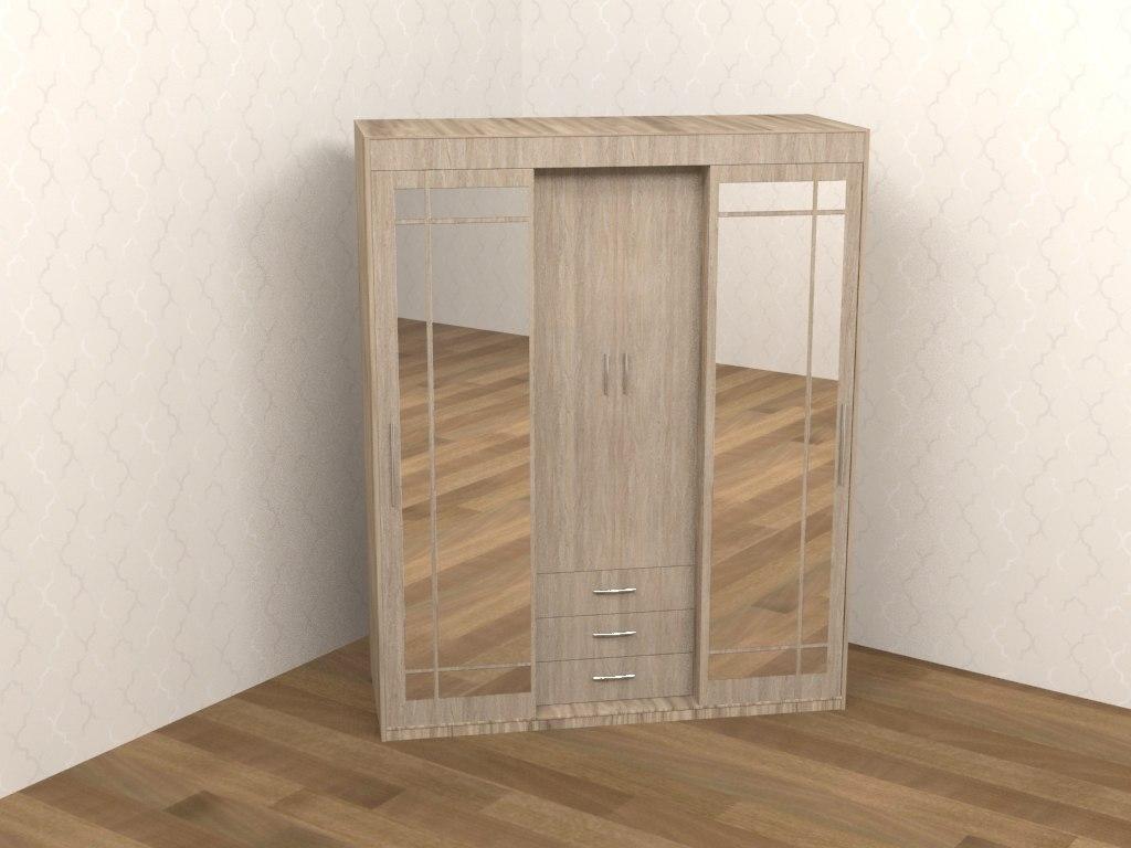 wardrobe mirrors 3D model
