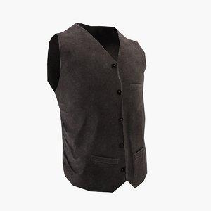 vest clothing fashion 3D model