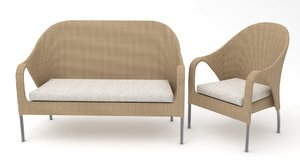 3D chair couch sofas model