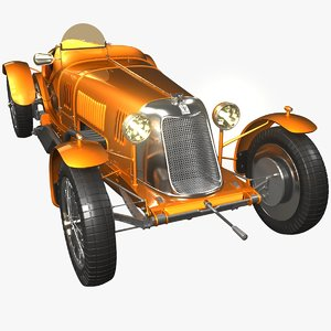 3D maserati classic race cars