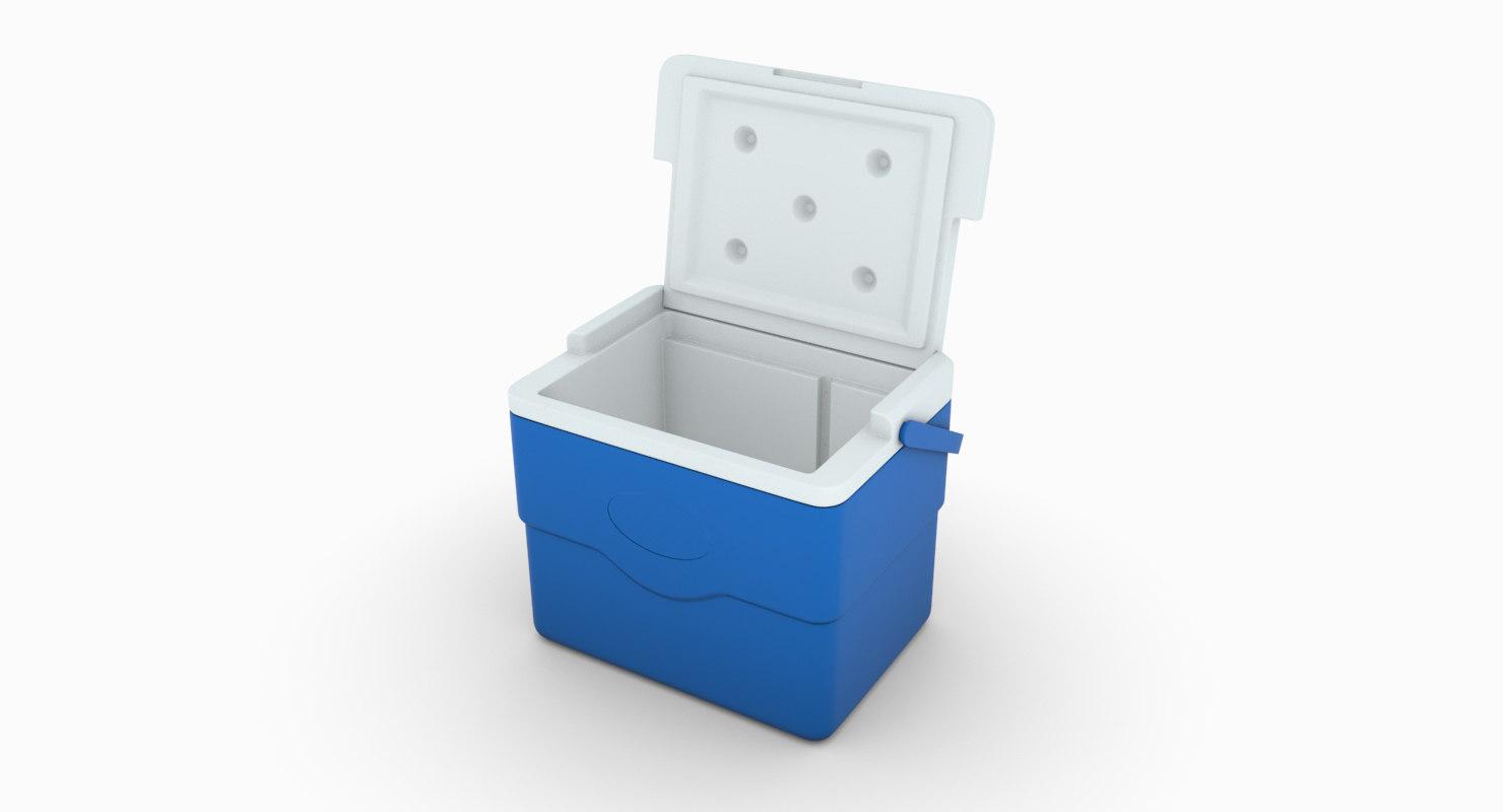 cooler blue 3D model