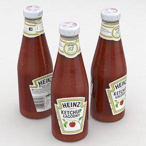 heinz ketchup 3D