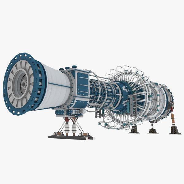 3D engine turbine unreal