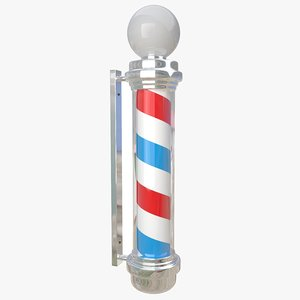 barber shop pole 3D