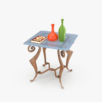 3D modern coffee table decorative model