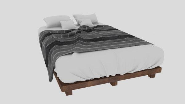 realistic bedsheet 3D model