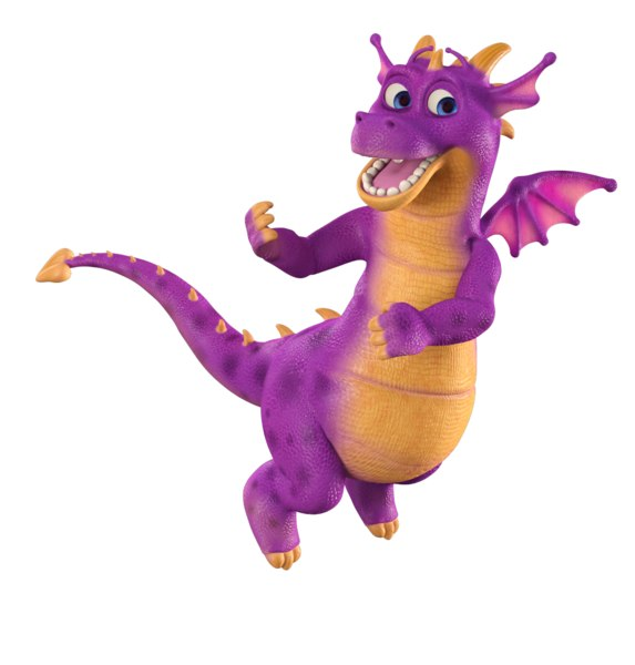 3D model dragon childish