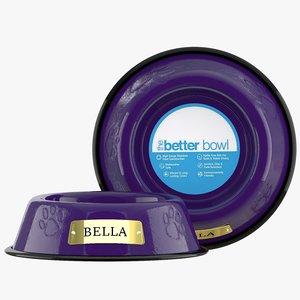 large bowl electric purple 3D model