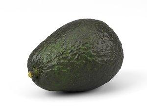 photorealistic scanned avocado 3D model