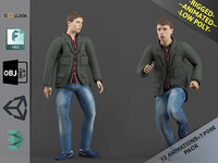 Young Man1 Animation Pack