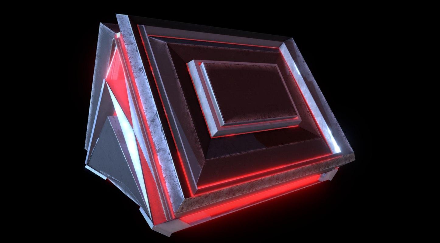 3D sci-fi chest ready 4k