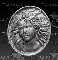 3D stl head girl model
