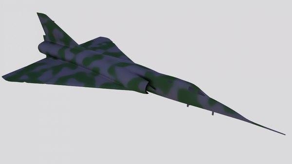 dassault mirage iv bomber 3D