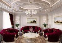 classic living room scene interior 3D model